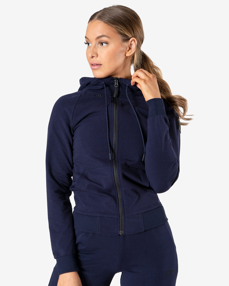 Activity Zip Hoodie Navy Wmn