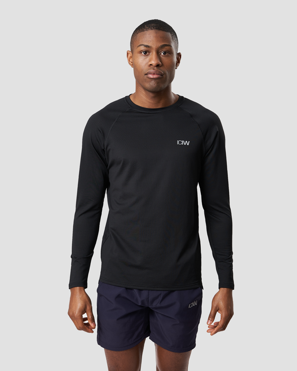 Training Mesh Long Sleeve Black Men