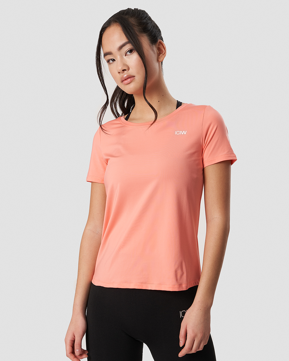 Training T-shirt Coral Wmn